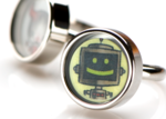 Bleep the robot emoticon mood ring